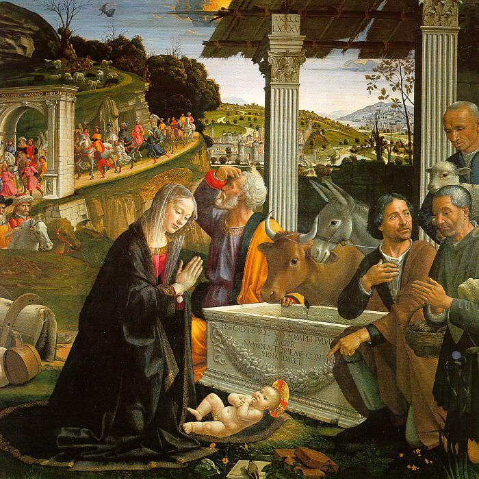 ADORATION OF THE SHEPHERDS SANTA TRINITA FIRENZ. Domenico Ghirlandaio