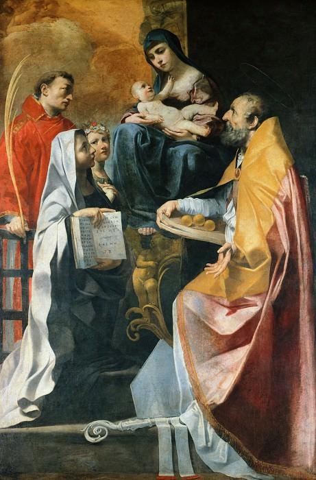 Madonna with four Saints. Francesco Gessi