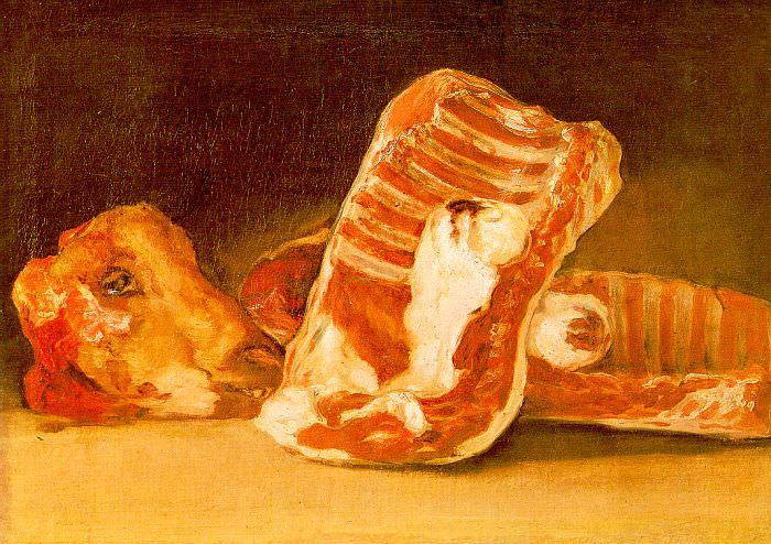 Натюрморт с головой овцы. Франсиско Хосе де Гойя-и-Лусьентес