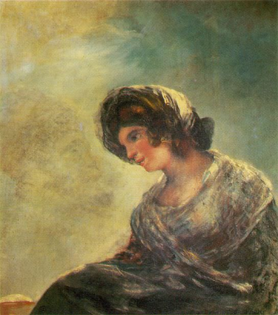 The Milkmaid. Francisco Jose De Goya y Lucientes