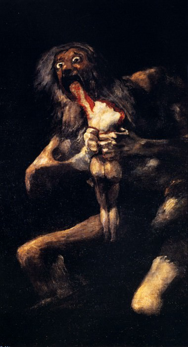 Saturn Devouring His Sons. Francisco Jose De Goya y Lucientes