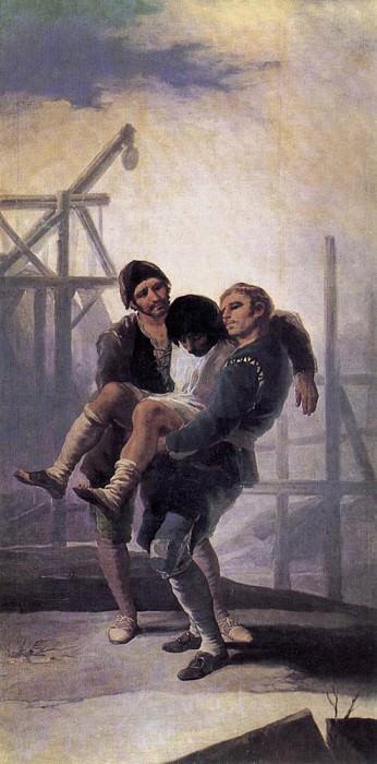 The Injured Mason. Francisco Jose De Goya y Lucientes