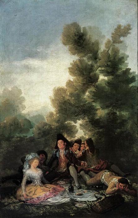 Пикник. Франсиско Хосе де Гойя-и-Лусьентес