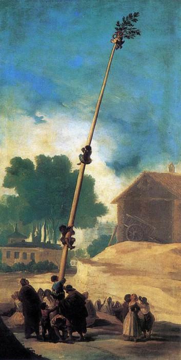 Скользкий столб Ла Кукана. Франсиско Хосе де Гойя-и-Лусьентес