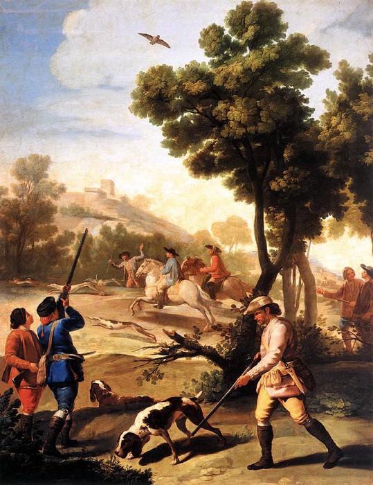 Охота на перепелов. Франсиско Хосе де Гойя-и-Лусьентес