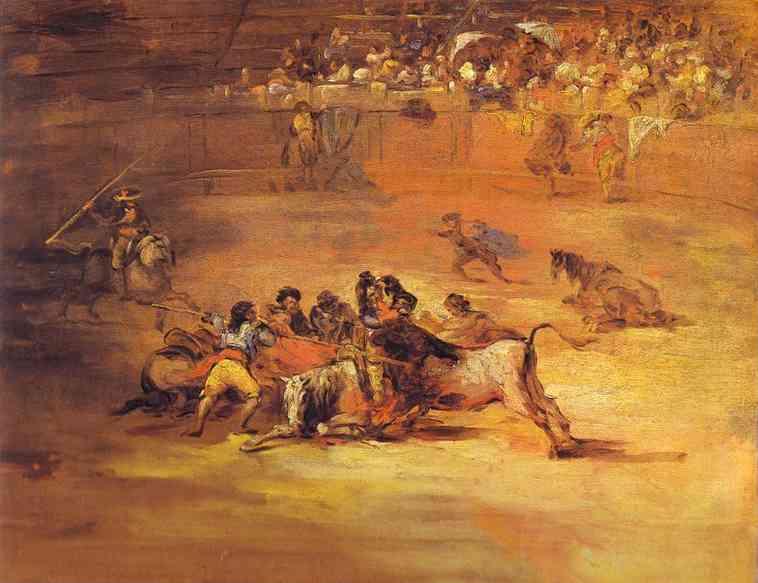 Сцена во время корриды. Франсиско Хосе де Гойя-и-Лусьентес