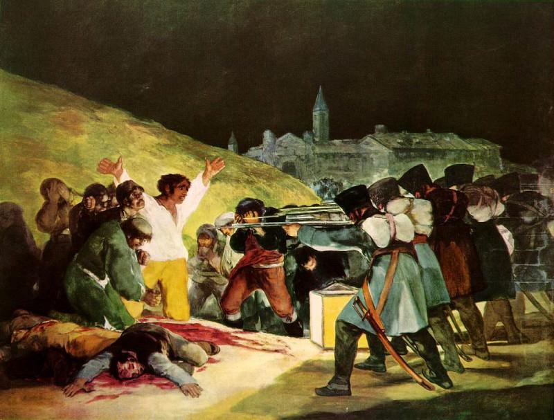 The Shootings of May Third 1808, 1814, Prado. Francisco Jose De Goya y Lucientes