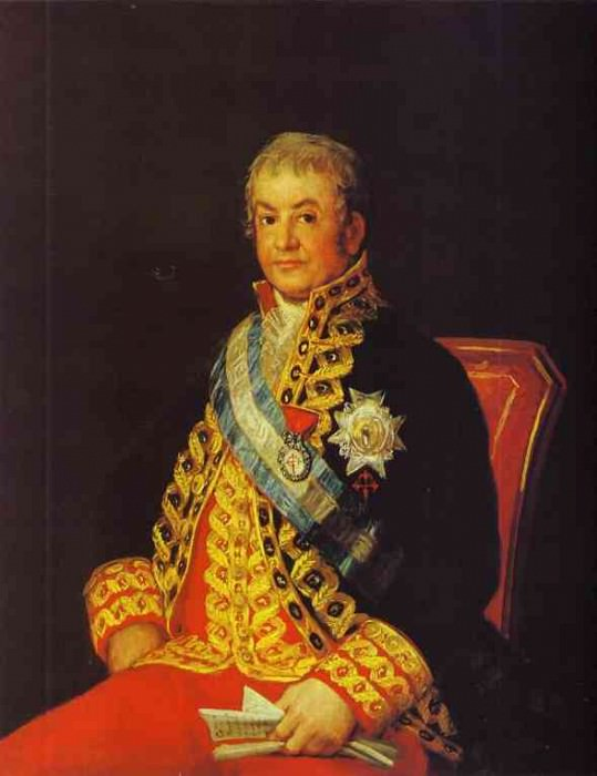 Portrait of Jose Antonio, Marques Caballero Kepmesa. Francisco Jose De Goya y Lucientes