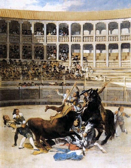 Picador Caught by the Bull. Francisco Jose De Goya y Lucientes