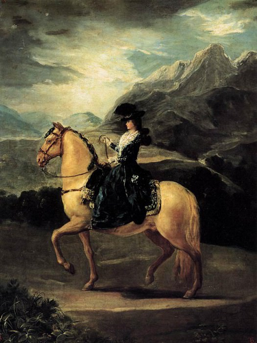 Portrait of Maria Teresa de Vallabriga on Horseback. Francisco Jose De Goya y Lucientes