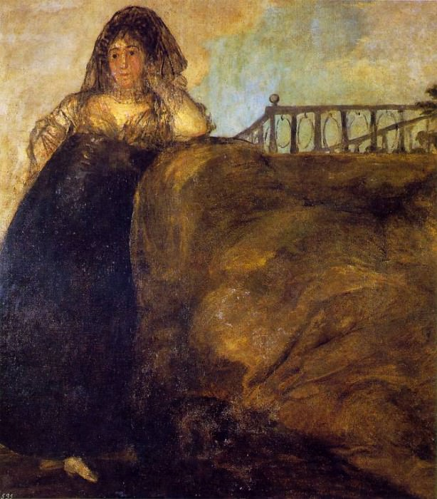 Leocadia, ca 1821-23, 147x132 cm, Oil on plaster remoun. Francisco Jose De Goya y Lucientes
