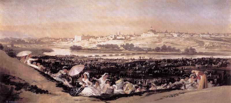 Луг Св. Исидро в день праздника в его память. Франсиско Хосе де Гойя-и-Лусьентес