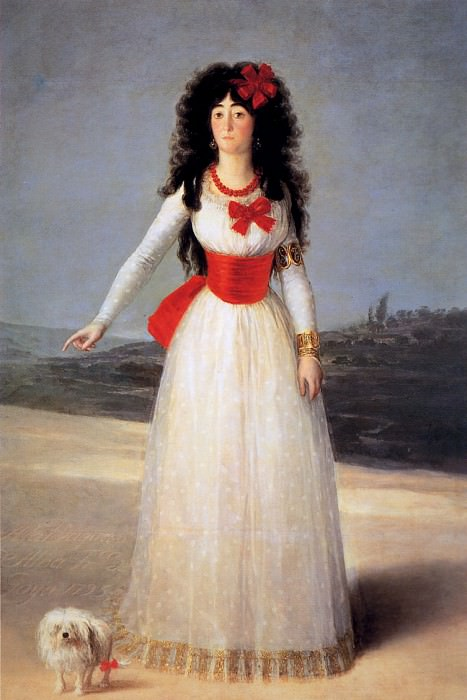 Jose The dutchess of Alba. Francisco Jose De Goya y Lucientes