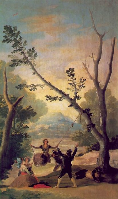 The swing, 1787, 169x100 cm, Duke of Montellano Collect. Francisco Jose De Goya y Lucientes