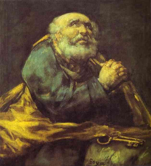 St. Peter Repentant. Francisco Jose De Goya y Lucientes