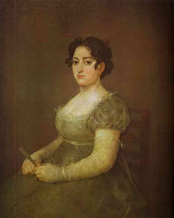 The Woman with a Fan. Francisco Jose De Goya y Lucientes