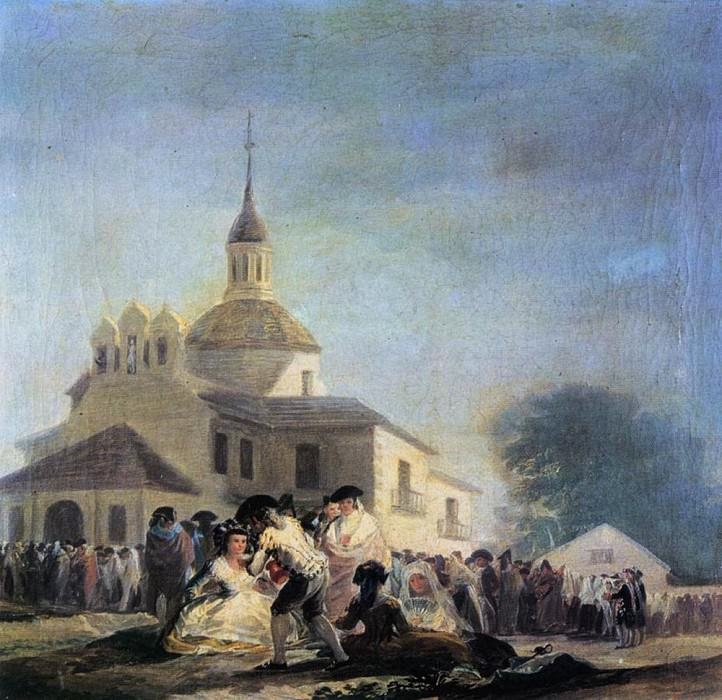 Pilgrimage to the Church of San Isidro. Francisco Jose De Goya y Lucientes
