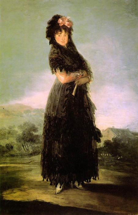 Portrait of Mariana Waldstein, 142x97 cm, Louvre. Francisco Jose De Goya y Lucientes