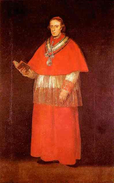 Cardinal Luis Maria de Borb n y Vallabriga. Francisco Jose De Goya y Lucientes