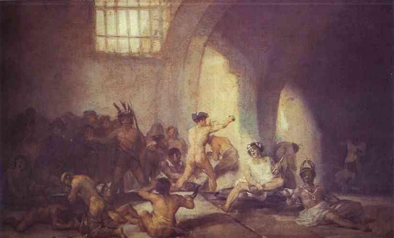 The Madhouse. Francisco Jose De Goya y Lucientes