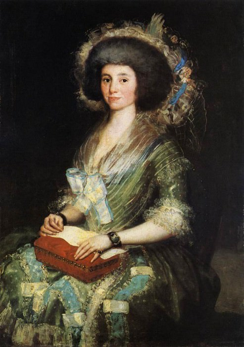 Portrait of the Wife of Juan Agustin Cean Bermudez. Francisco Jose De Goya y Lucientes