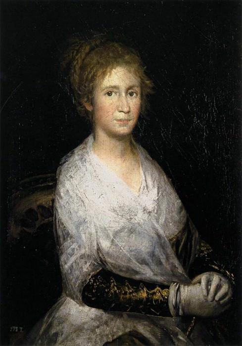 Хосефа Байо или Леокадия Вайс. Франсиско Хосе де Гойя-и-Лусьентес