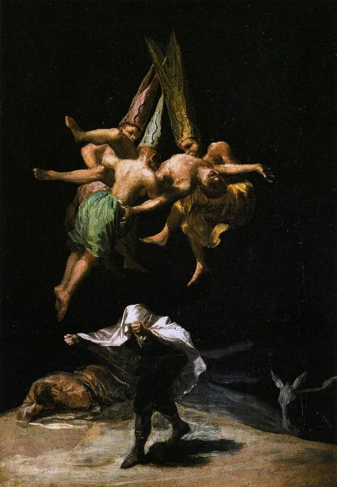 Witches in the Air. Francisco Jose De Goya y Lucientes