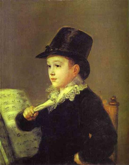 Portrait of Mariano Goya, the Artists Grandson. Francisco Jose De Goya y Lucientes