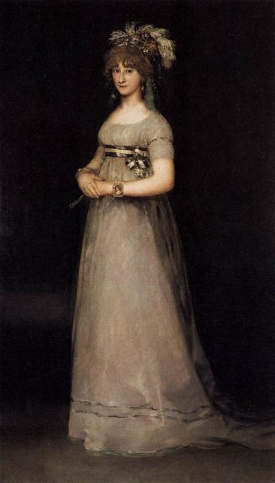 POrtrait of the Countess of Chincon. Francisco Jose De Goya y Lucientes