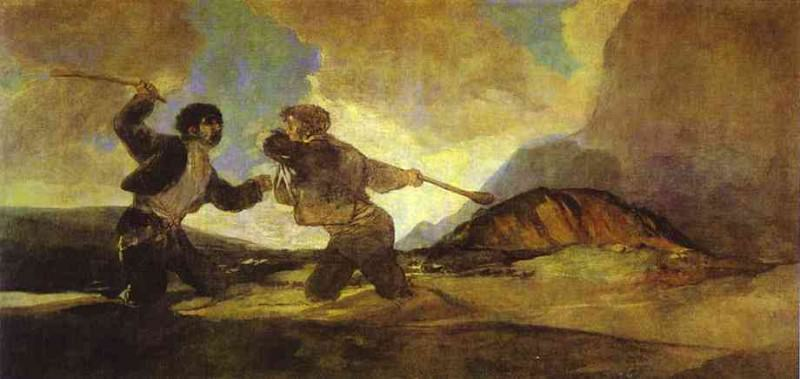 Fight with Clubs. Francisco Jose De Goya y Lucientes