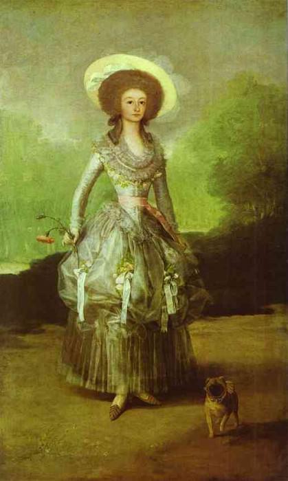 The Marquesa de Pontejos. Francisco Jose De Goya y Lucientes