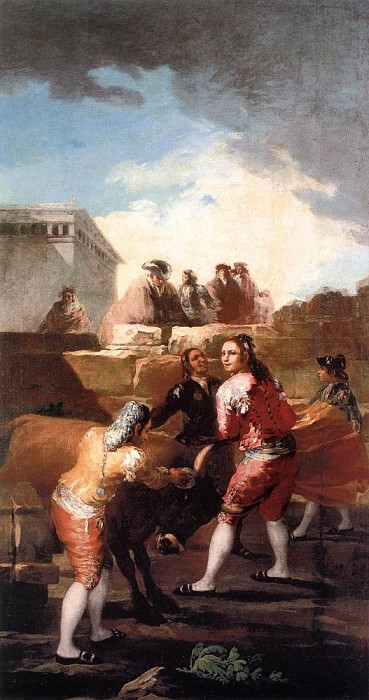 Fight with a Young Bull. Francisco Jose De Goya y Lucientes