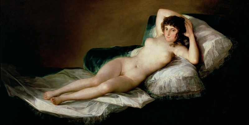The Naked Maja. Francisco Jose De Goya y Lucientes