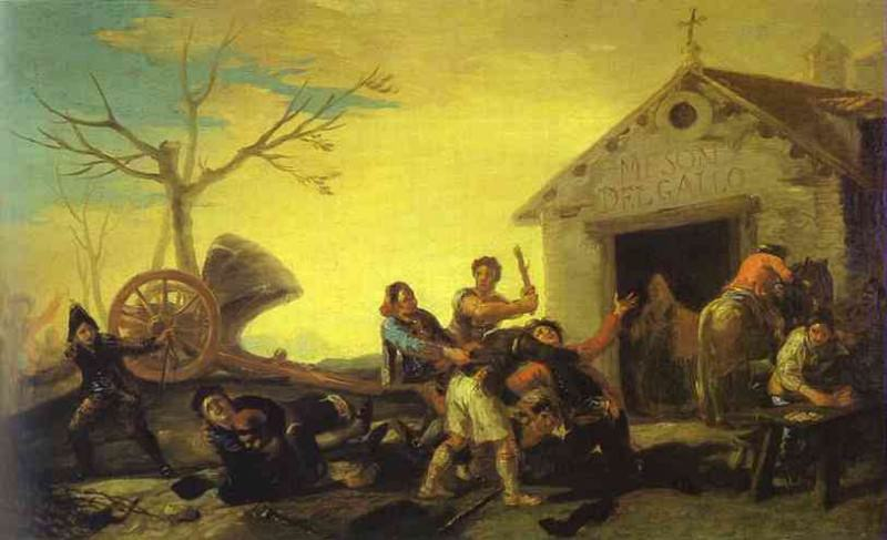 Fight at the Cock Inn. Francisco Jose De Goya y Lucientes