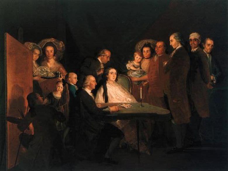 Семейство инфанта Дона Луиса (1784). Франсиско Хосе де Гойя-и-Лусьентес