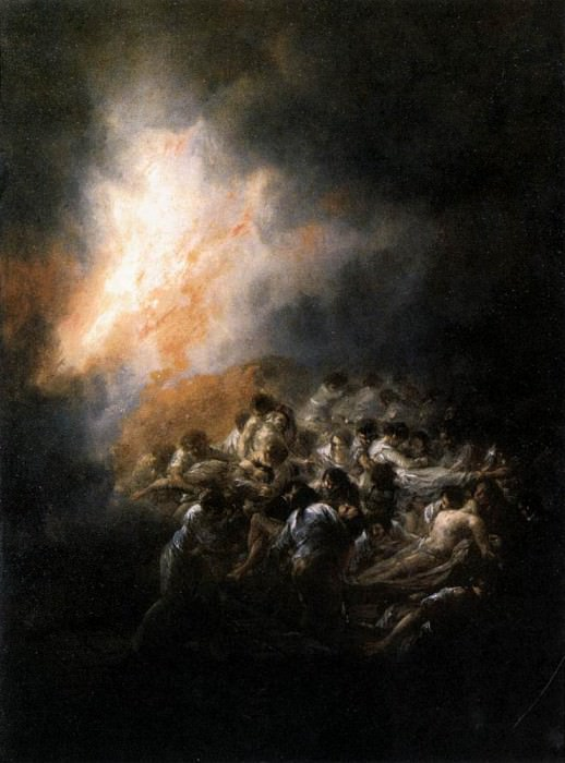Fire at Night. Francisco Jose De Goya y Lucientes