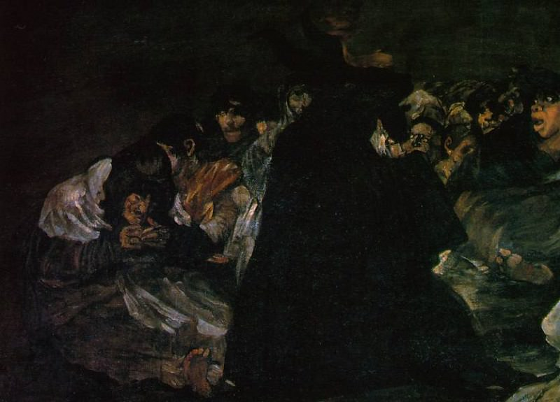 The Great He-Goat or Witches Sabbath, ca 1821-23, Det. Francisco Jose De Goya y Lucientes