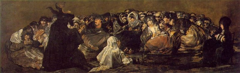 The Great He-Goat or Witches Sabbath, ca 1821-23, 140x4. Francisco Jose De Goya y Lucientes