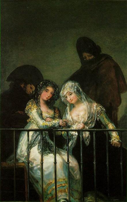 group-balcony. Francisco Jose De Goya y Lucientes