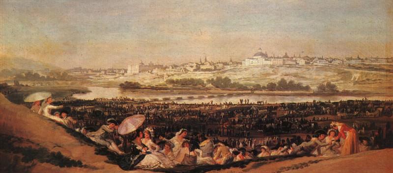 Праздник на лугу Святого Исидора. Франсиско Хосе де Гойя-и-Лусьентес