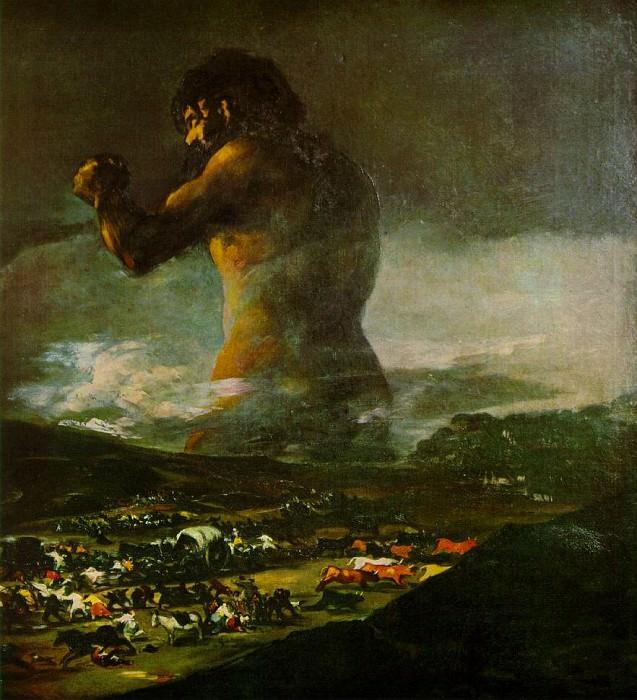 The Colossus, 1808-12, Prado. Francisco Jose De Goya y Lucientes