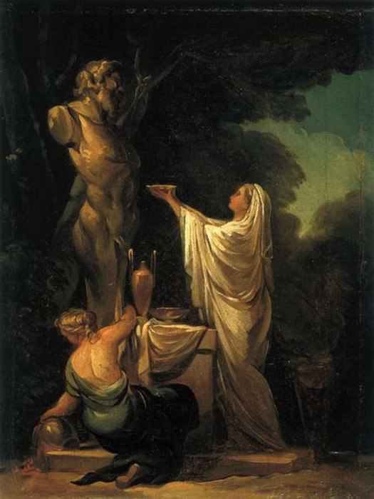 Il sacrificio a Pan. (1771). Collezione privata.. Francisco Jose De Goya y Lucientes