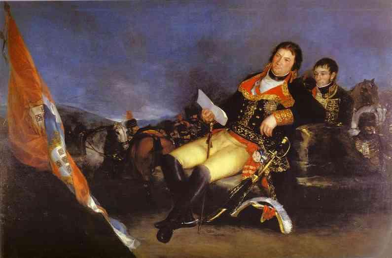 Manuel Godoy, Duke of Alcudia, Prince of the Peace. Francisco Jose De Goya y Lucientes