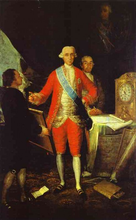 1783 The Count of Floridablanca. Francisco Jose De Goya y Lucientes