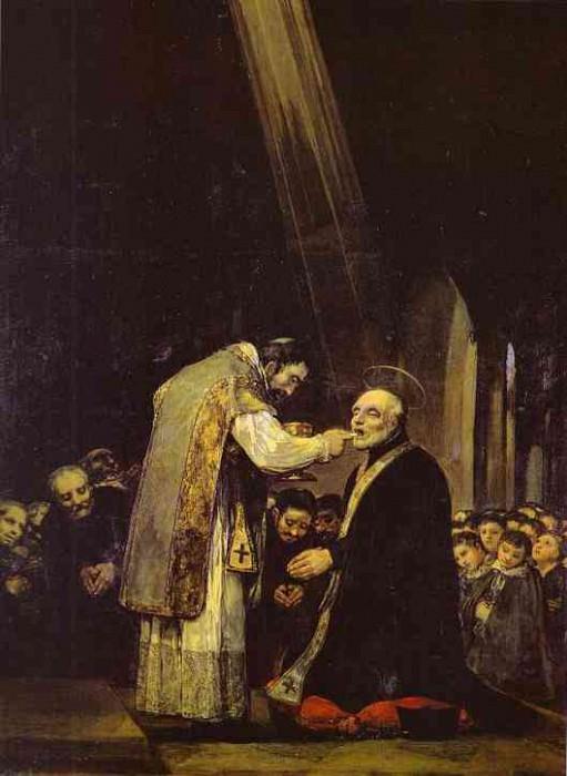 The Last Communion of Saint Jose de Calasanz. Francisco Jose De Goya y Lucientes