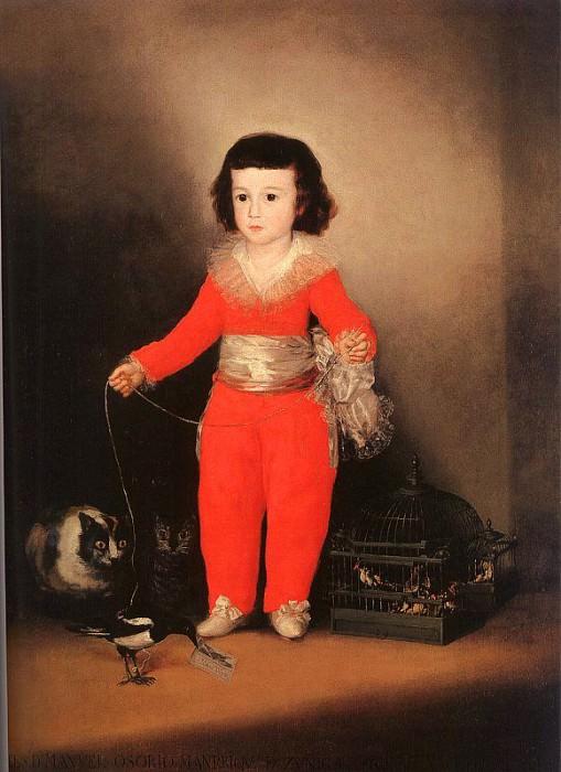 Don Manuel Osorio Manrique de Zuniga. Francisco Jose De Goya y Lucientes