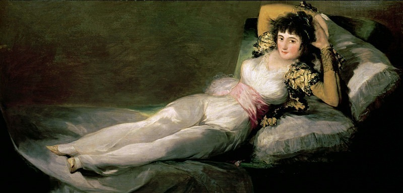 The Clothed Maja (La maja vestita). Francisco Jose De Goya y Lucientes