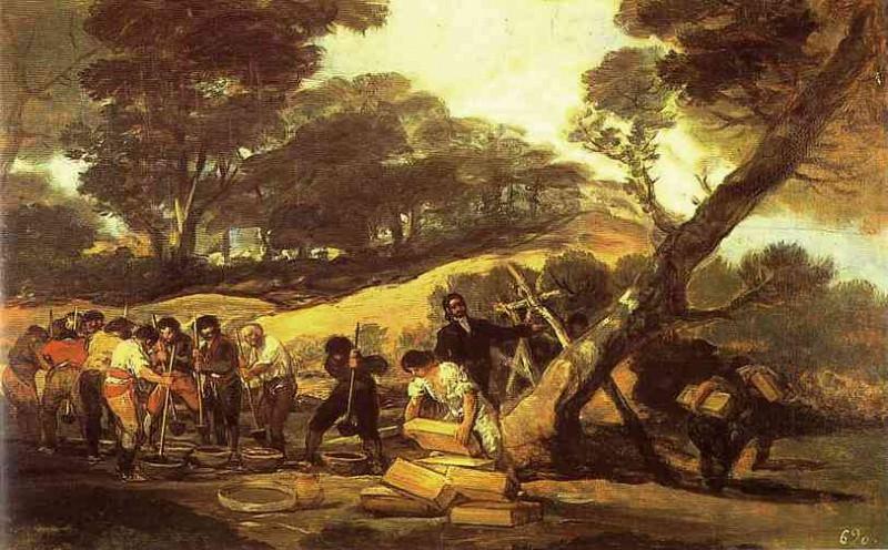 Powder Factory in the Sierra. Francisco Jose De Goya y Lucientes