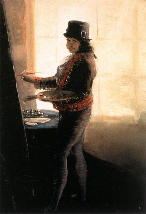 Self Portrait in the Workshop. Francisco Jose De Goya y Lucientes