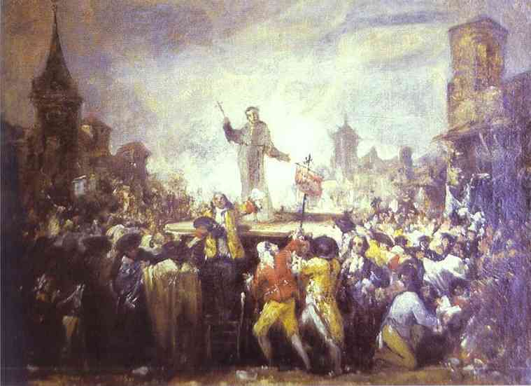 Francisco de Goya - Le motin de Esquilache (The Esquilache Riots). Francisco Jose De Goya y Lucientes